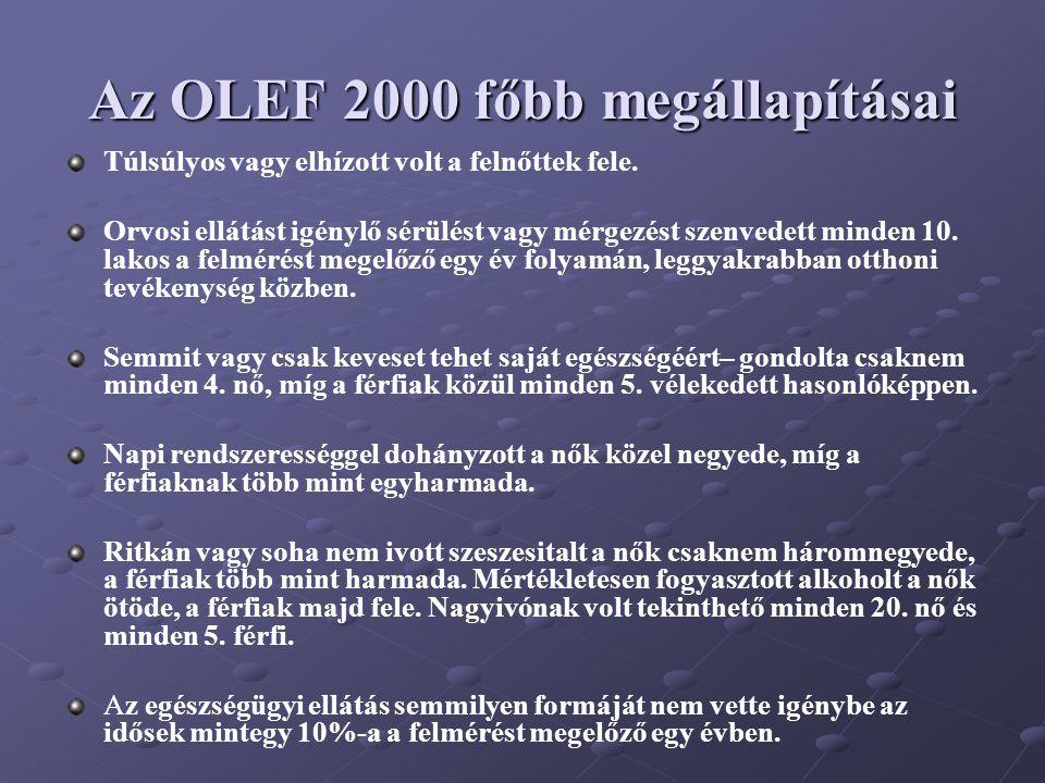 Az OLEF 2000 főbb megállapításai