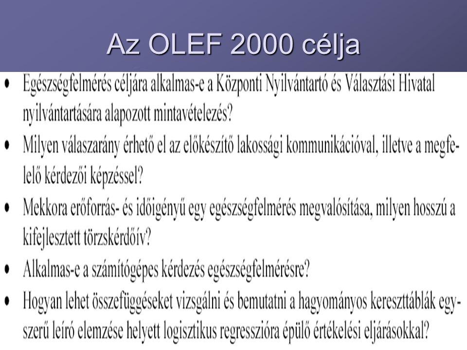 Az OLEF 2000 célja