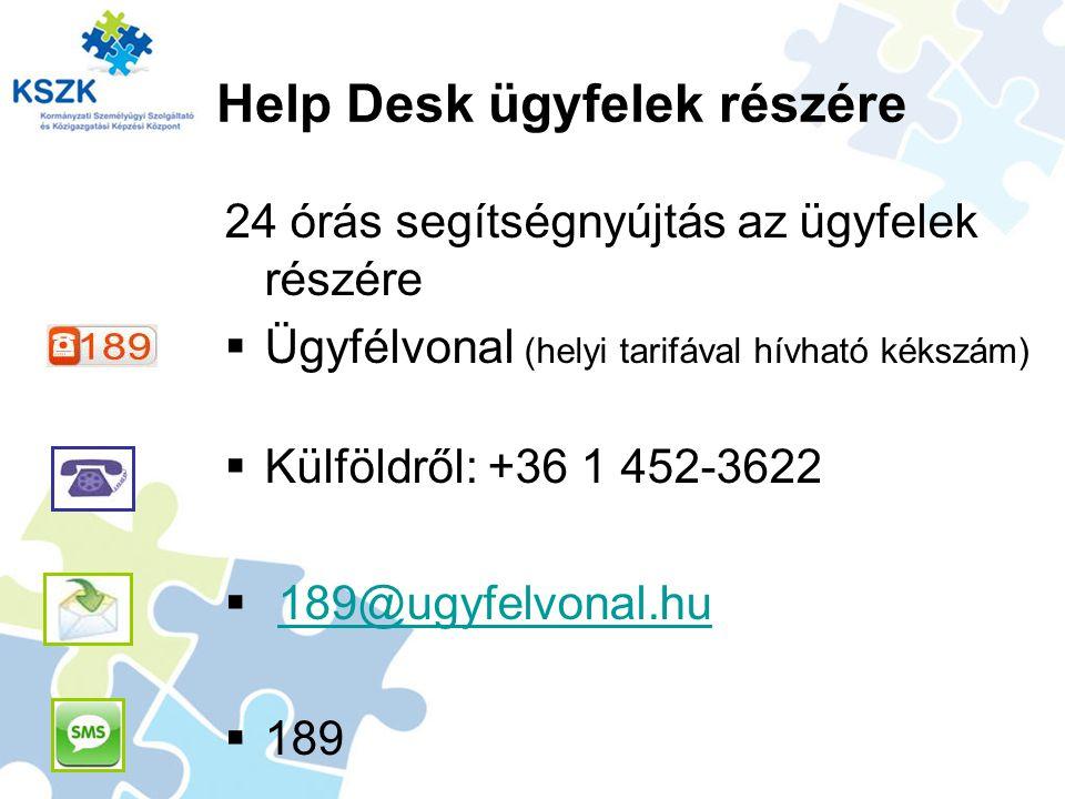 Help Desk ügyfelek részére
