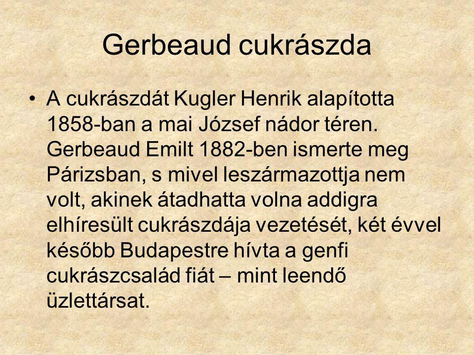 Gerbeaud cukrászda