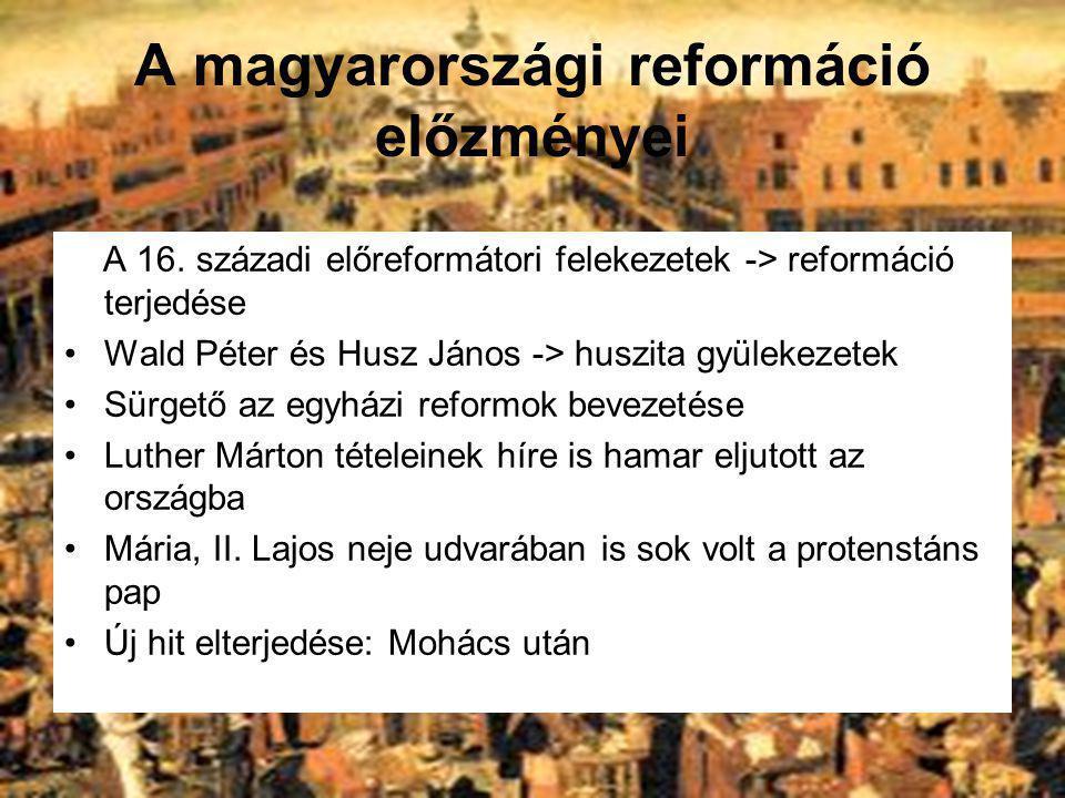 A magyarországi reformáció előzményei