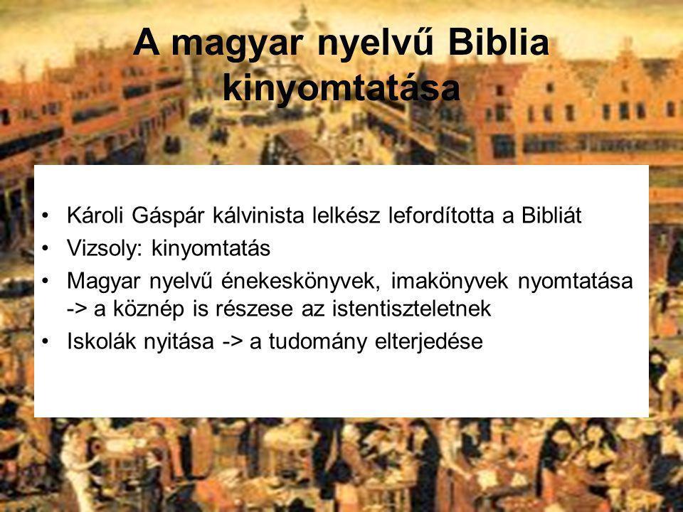 A magyar nyelvű Biblia kinyomtatása