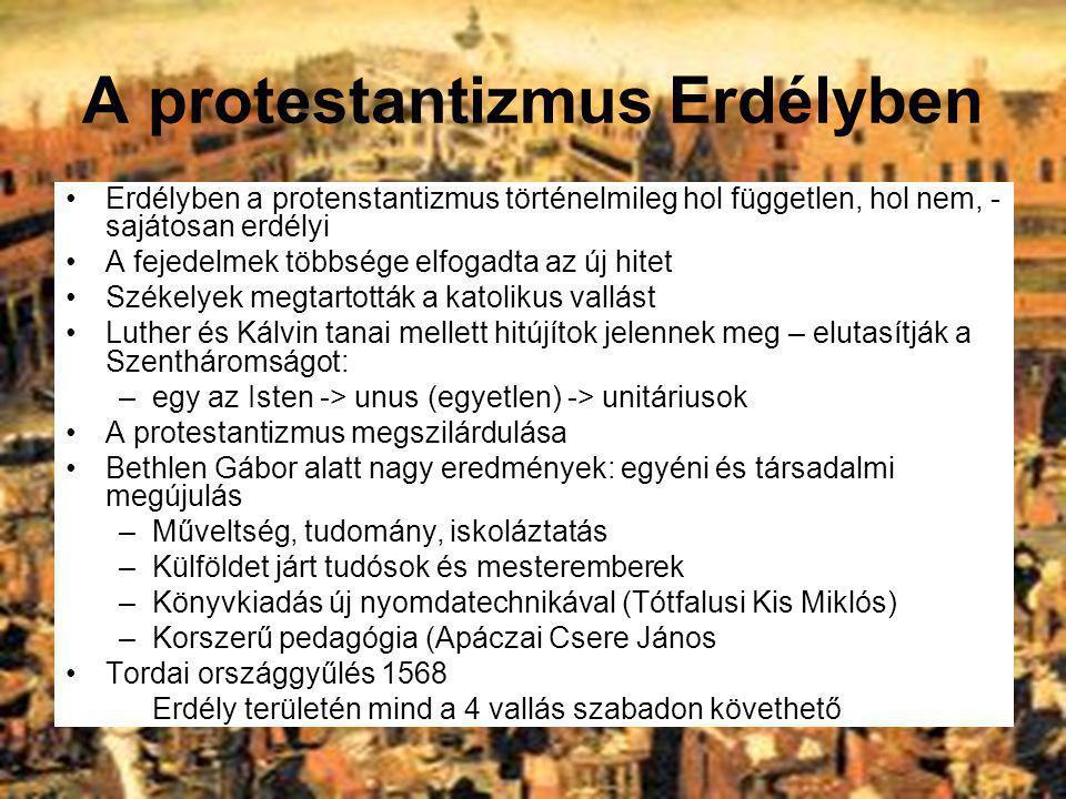 A protestantizmus Erdélyben