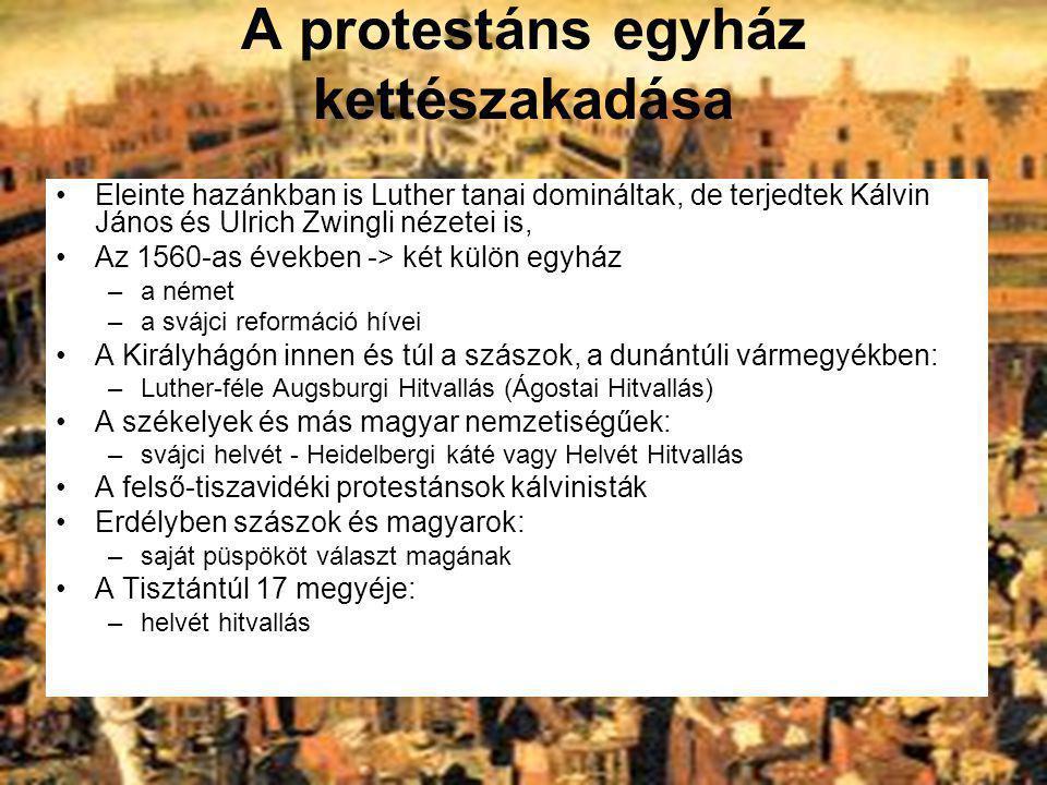 A protestáns egyház kettészakadása