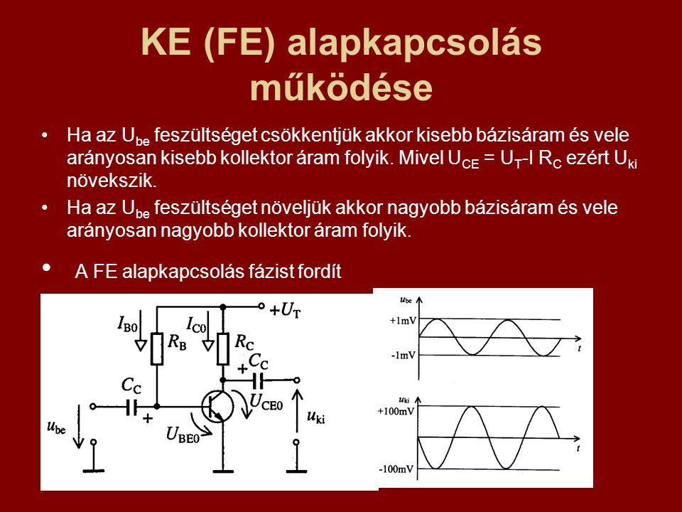 KE (FE) alapkapcsolás működése