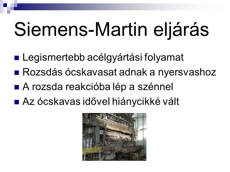 Siemens-Martin eljárás
