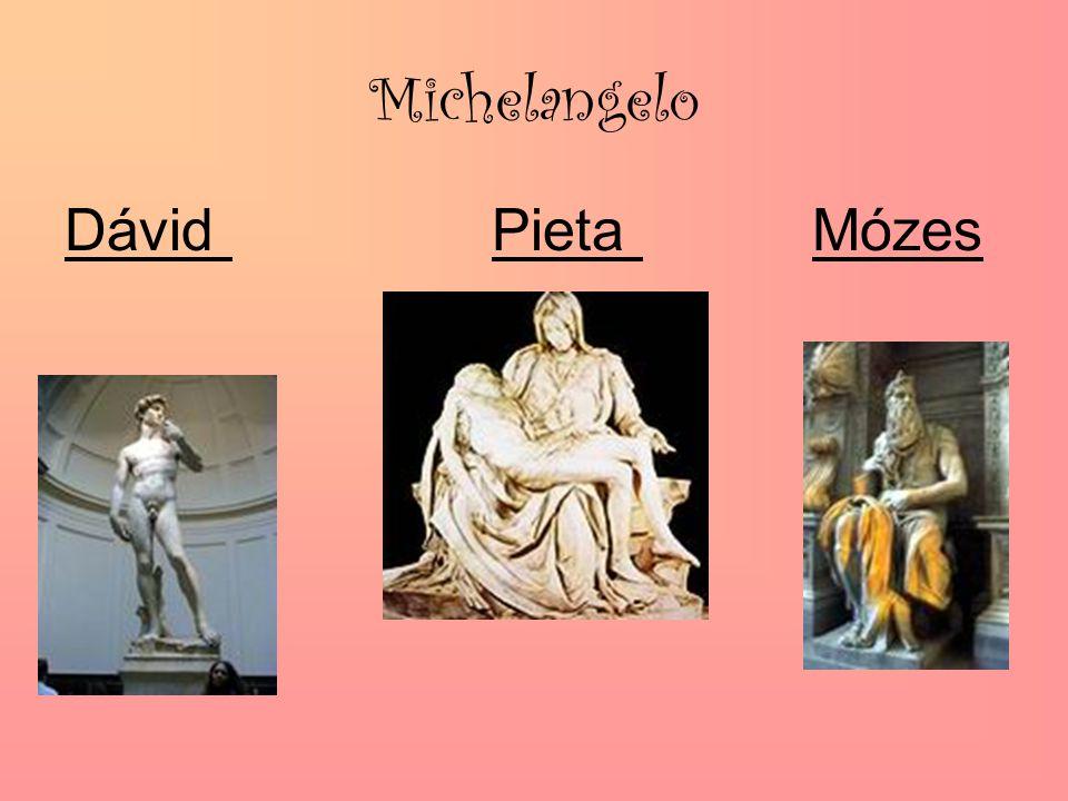 Michelangelo Dávid Pieta Mózes
