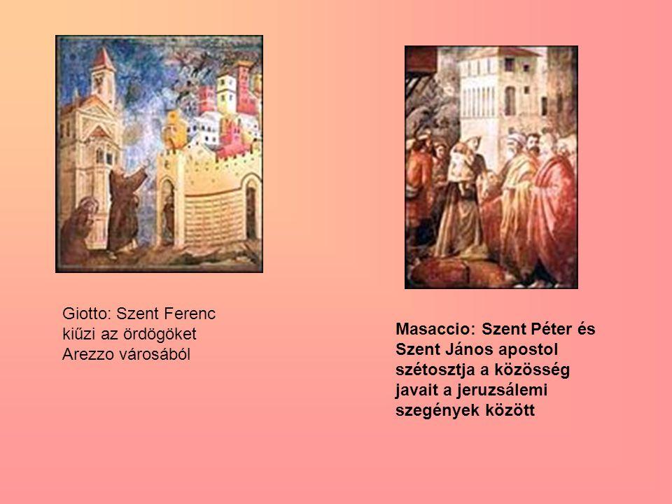 Giotto: Szent Ferenc kiűzi az ördögöket Arezzo városából
