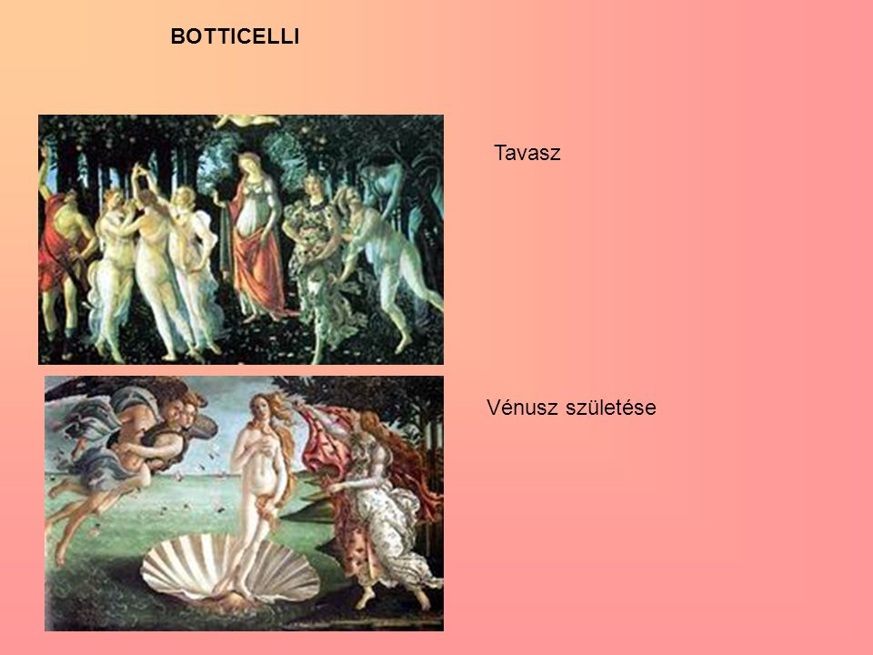 BOTTICELLI Tavasz Vénusz születése