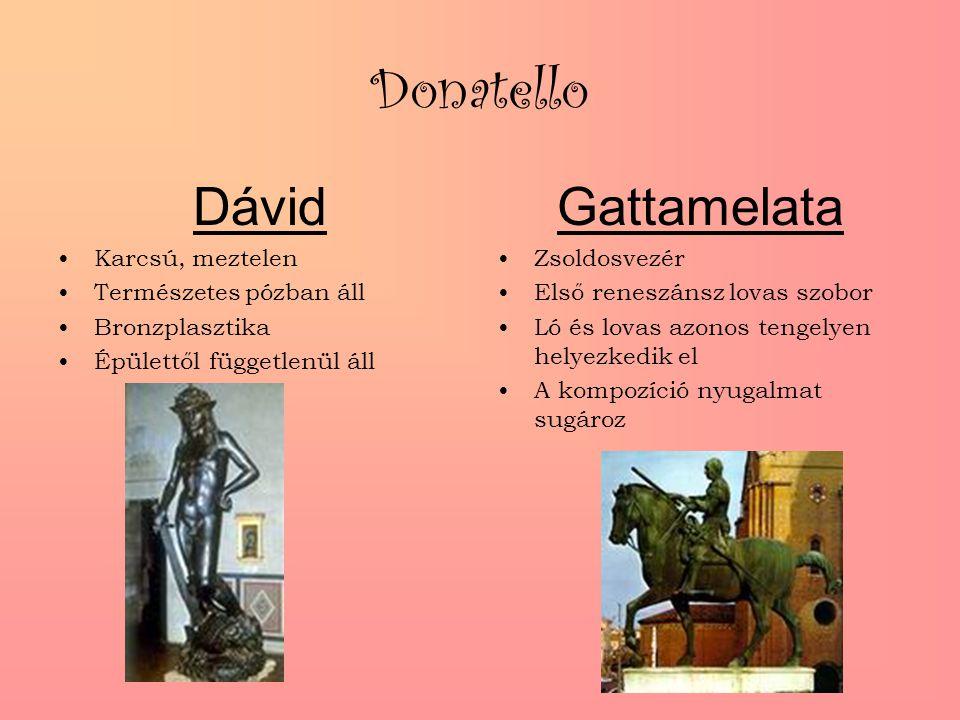 Donatello Dávid Gattamelata Karcsú, meztelen Természetes pózban áll