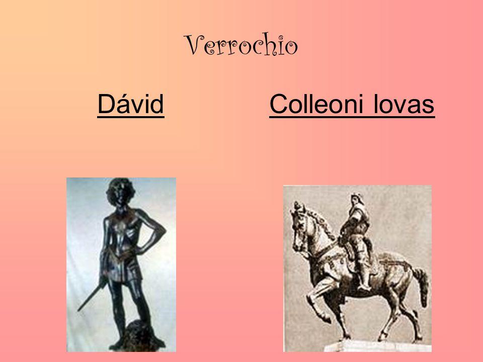 Verrochio Dávid Colleoni lovas