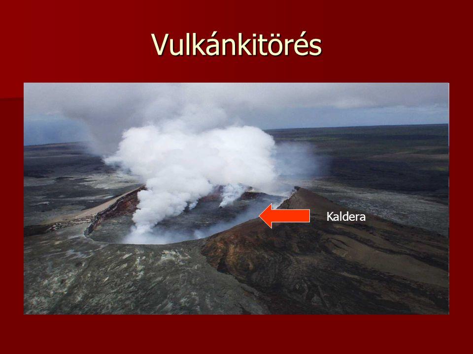 Vulkánkitörés Kaldera