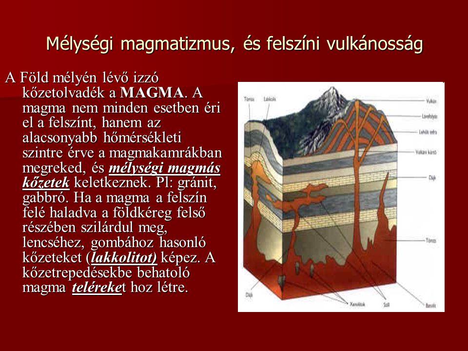 Mélységi magmatizmus, és felszíni vulkánosság