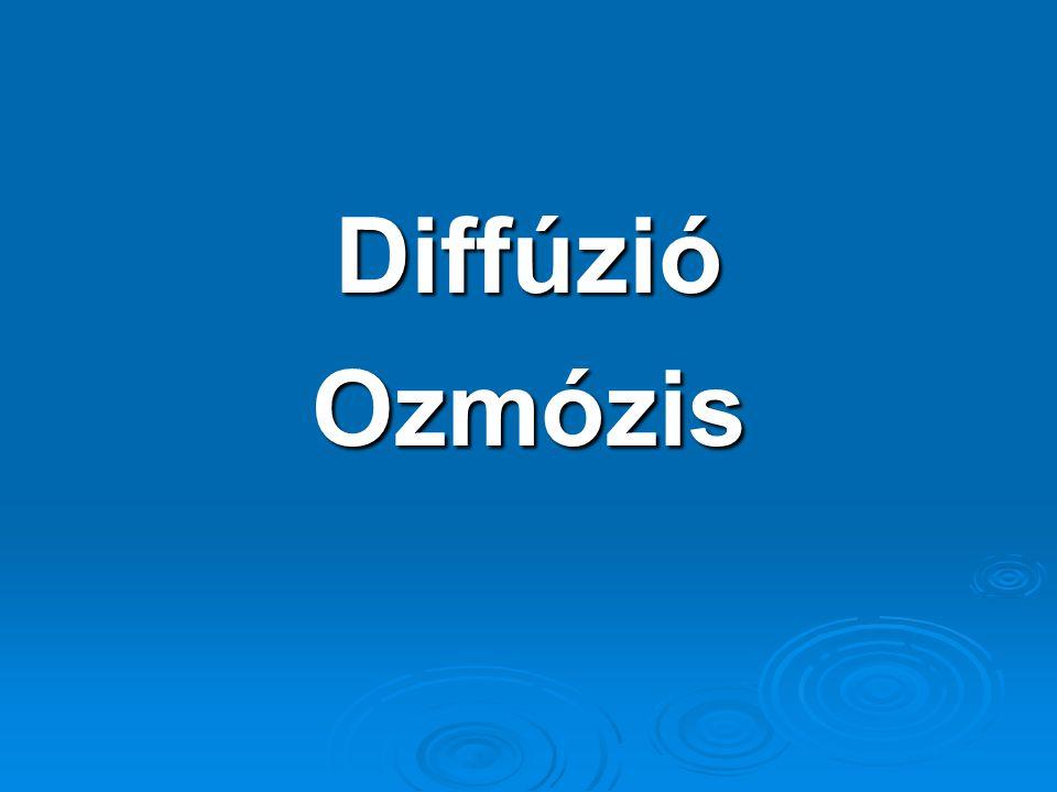 Diffúzió Ozmózis