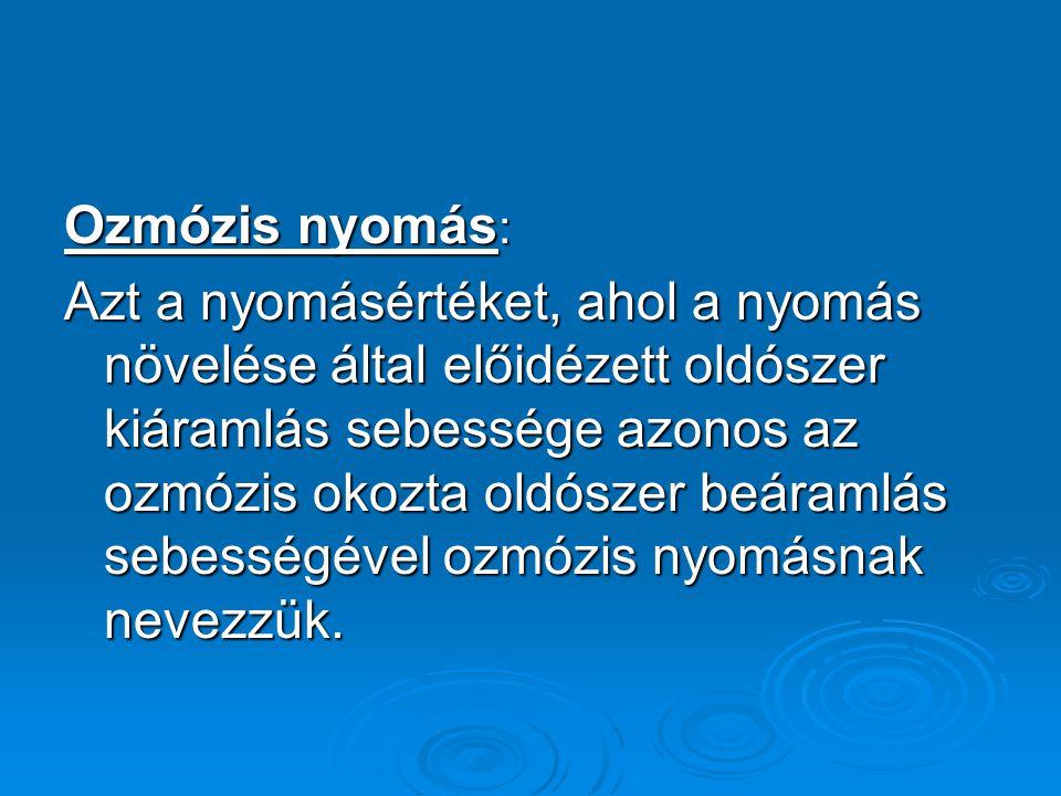 Ozmózis nyomás: