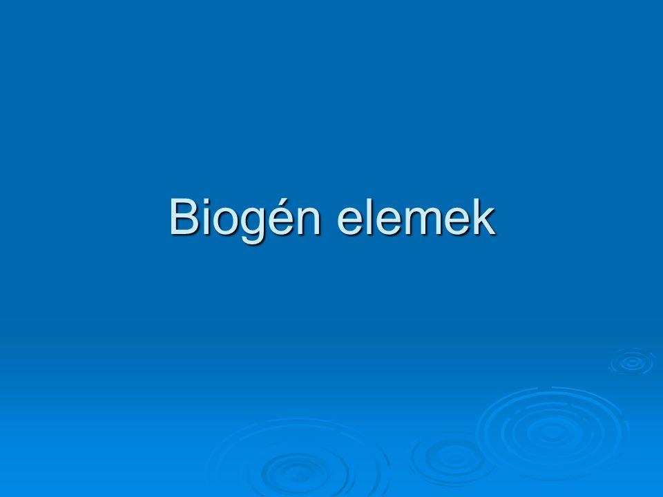 Biogén elemek