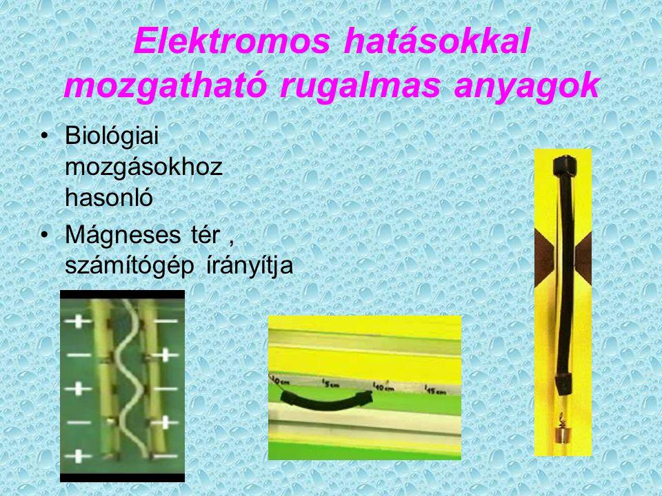 Elektromos hatásokkal mozgatható rugalmas anyagok
