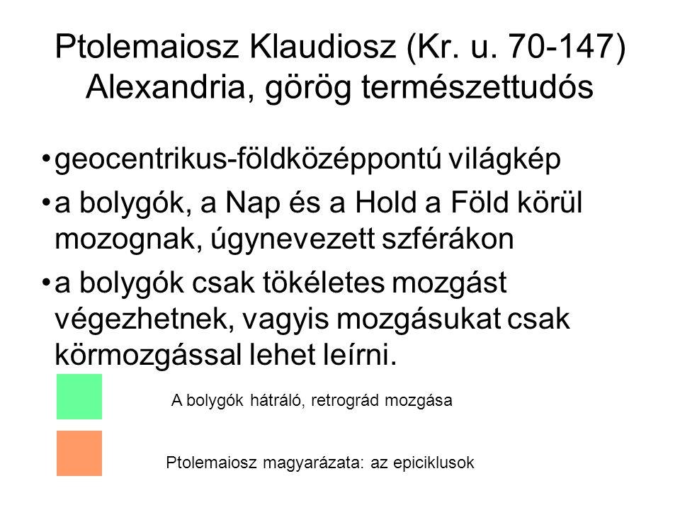 Ptolemaiosz Klaudiosz (Kr. u. 70-147) Alexandria, görög természettudós