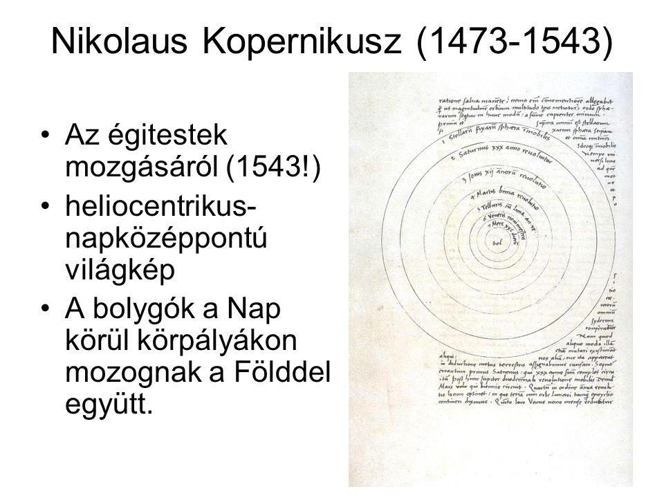Nikolaus Kopernikusz (1473-1543)