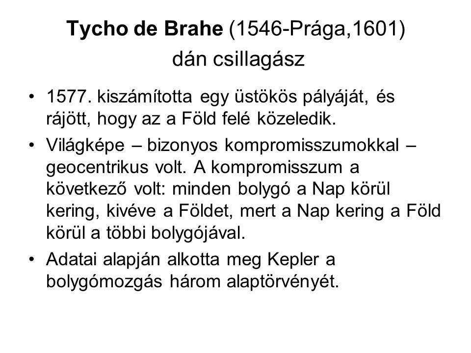 Tycho de Brahe (1546-Prága,1601) dán csillagász