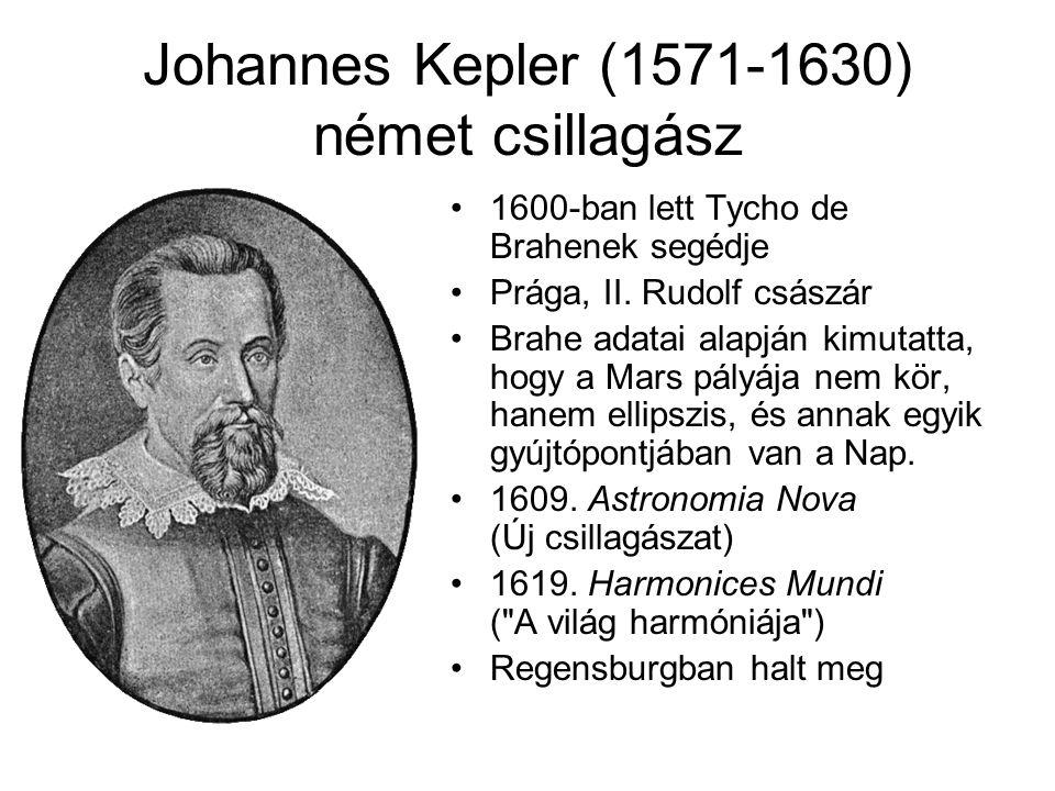 Johannes Kepler (1571-1630) német csillagász