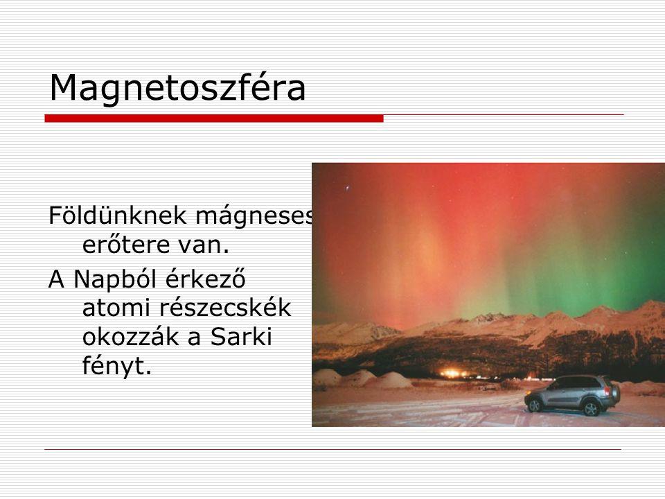 Magnetoszféra Földünknek mágneses erőtere van.