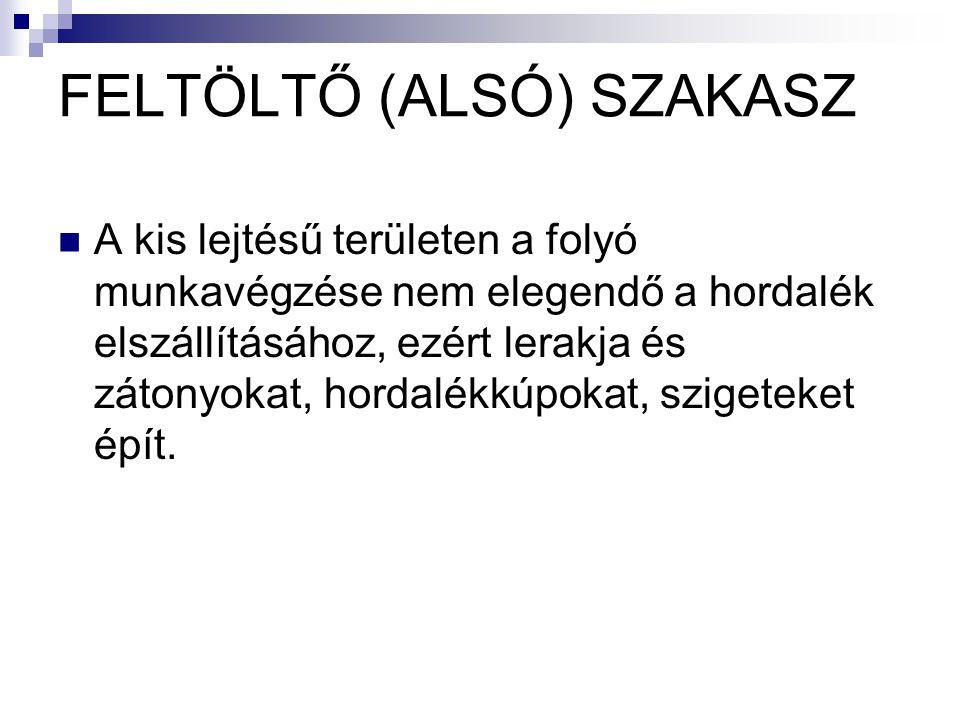 FELTÖLTŐ (ALSÓ) SZAKASZ