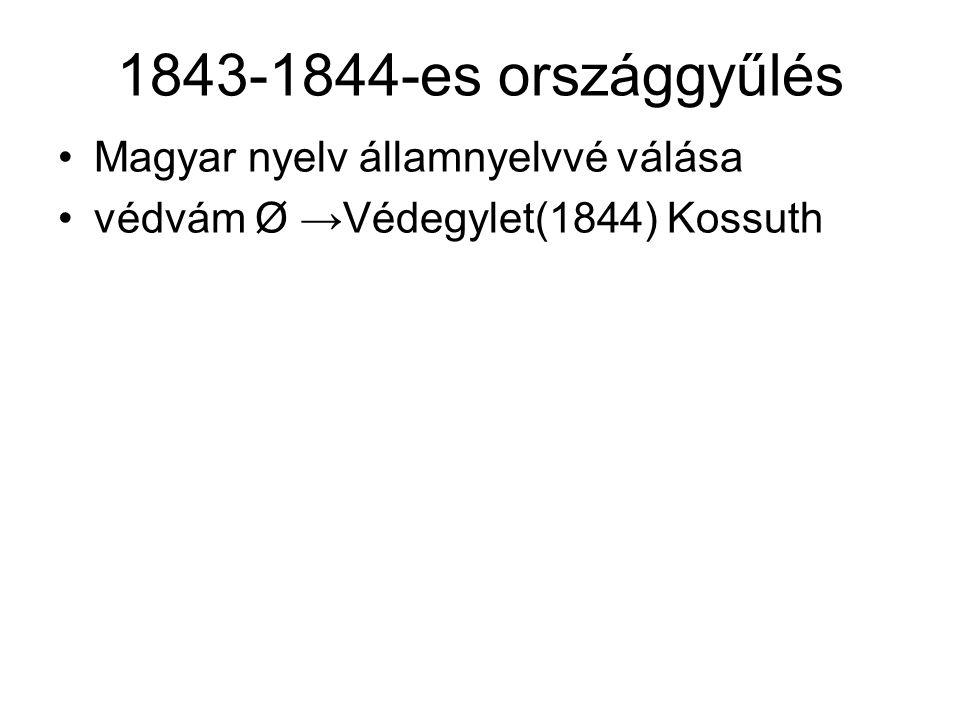 1843-1844-es országgyűlés Magyar nyelv államnyelvvé válása