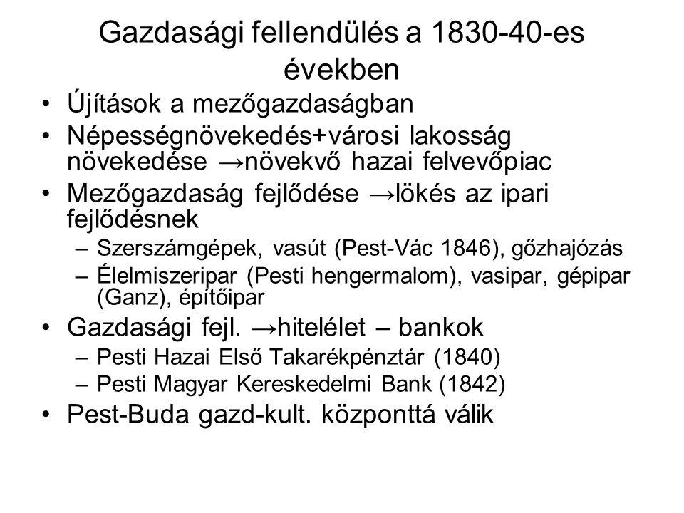 Gazdasági fellendülés a 1830-40-es években