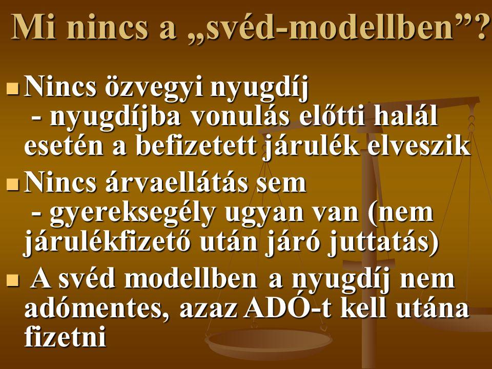 """Mi nincs a """"svéd-modellben"""