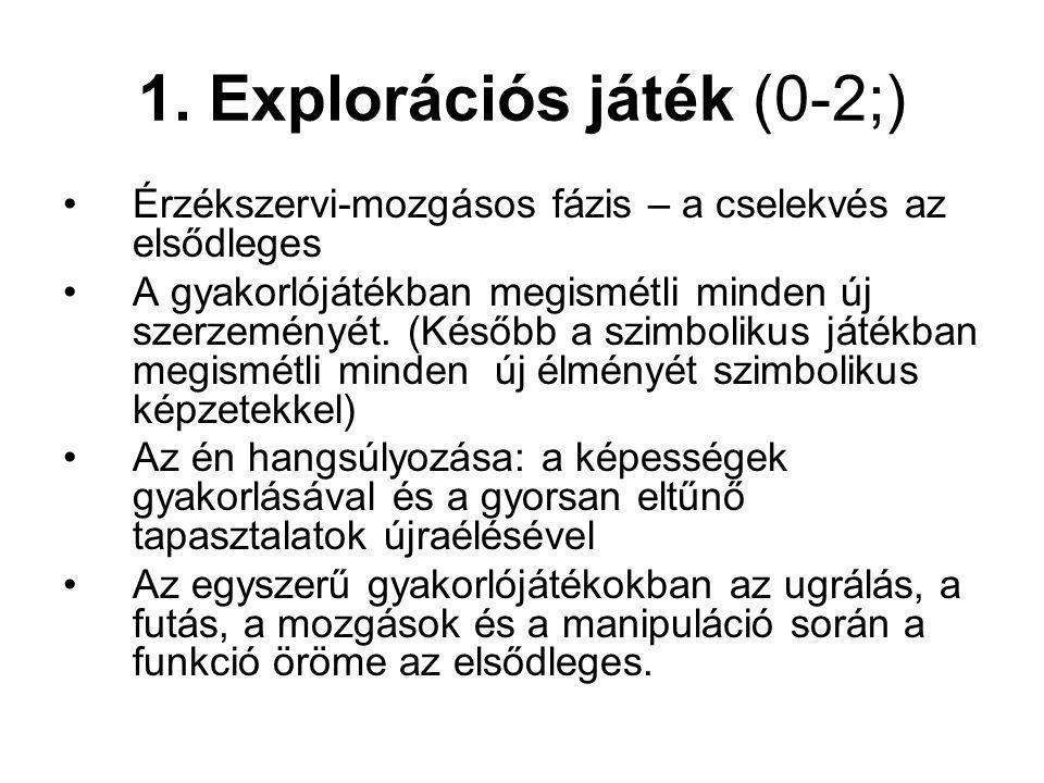 1. Explorációs játék (0-2;)