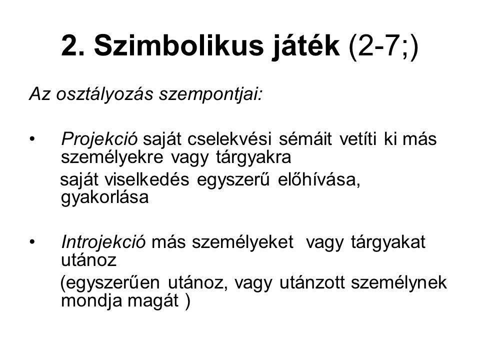 2. Szimbolikus játék (2-7;)