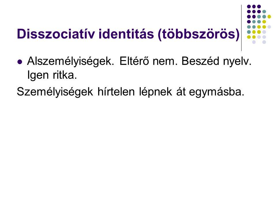 Disszociatív identitás (többszörös)
