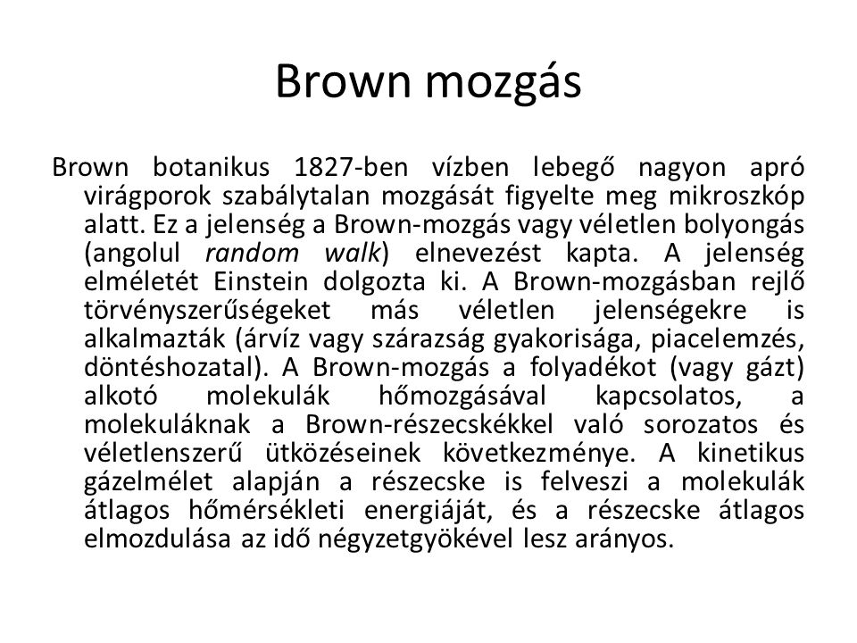 Brown mozgás