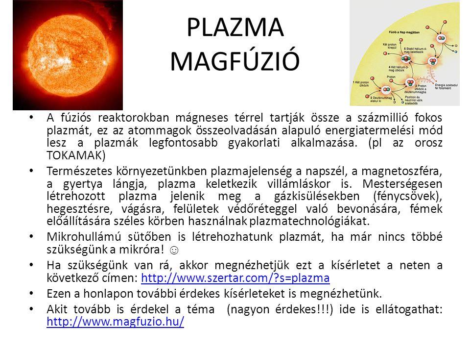 PLAZMA MAGFÚZIÓ
