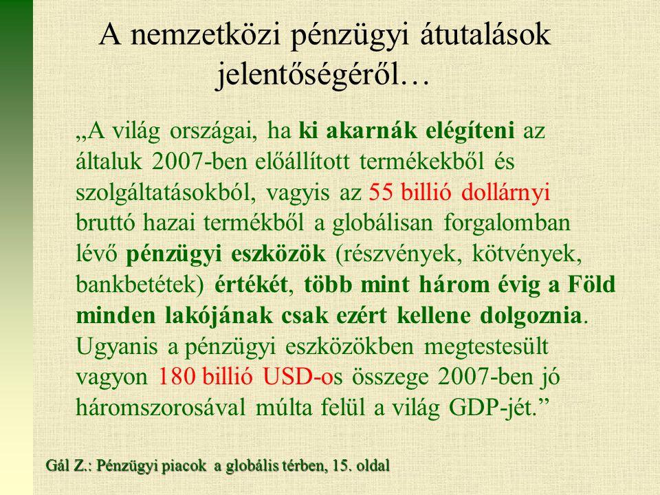 A nemzetközi pénzügyi átutalások jelentőségéről…