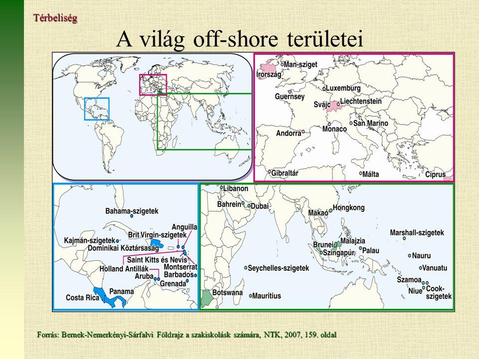 A világ off-shore területei