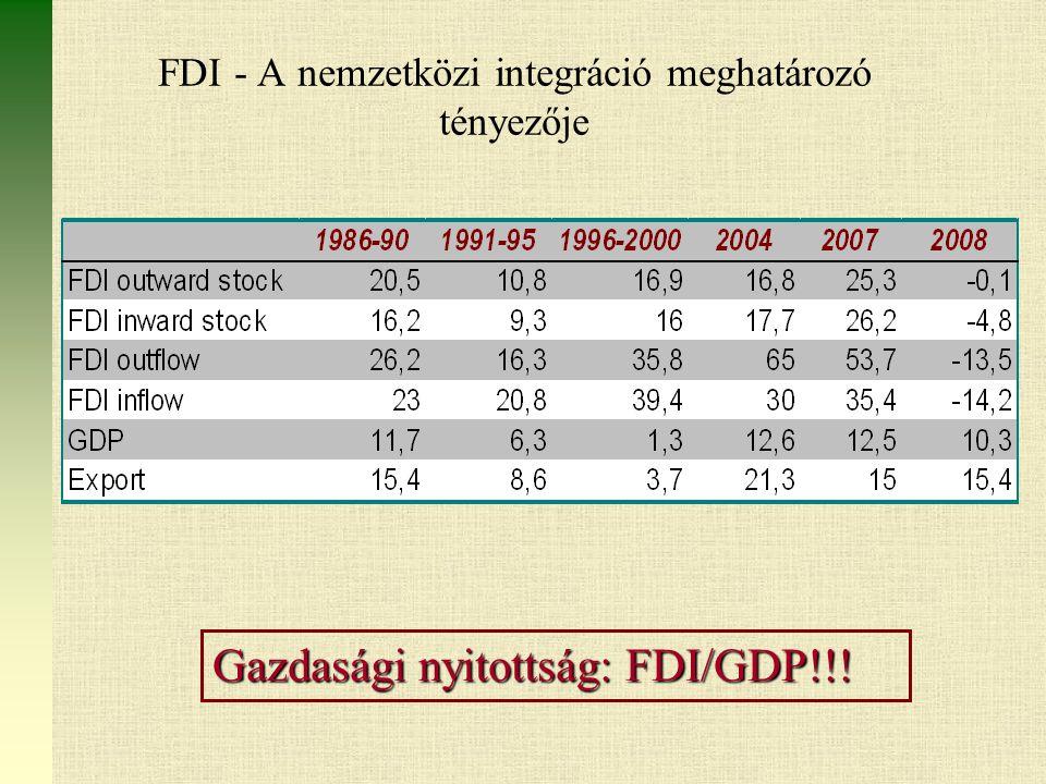 FDI - A nemzetközi integráció meghatározó tényezője