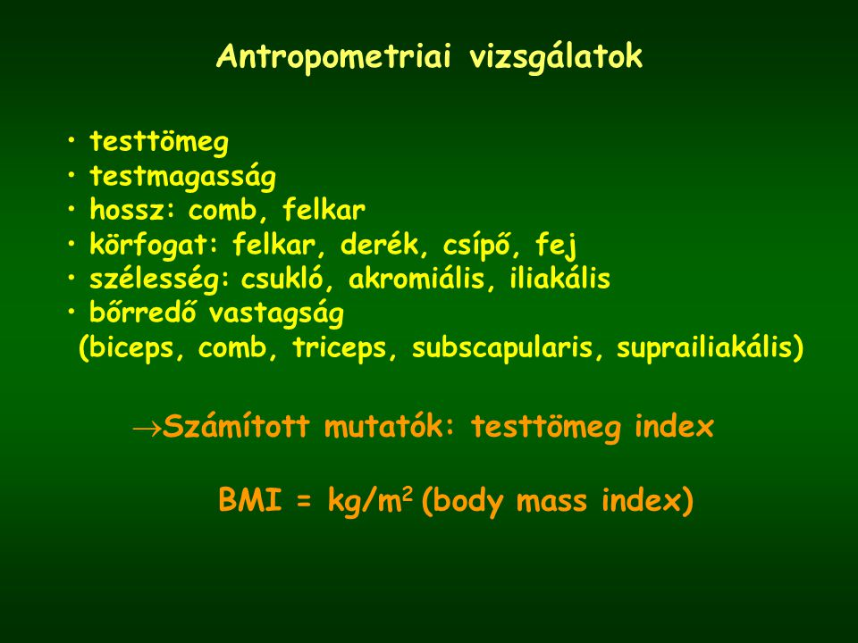 Antropometriai vizsgálatok