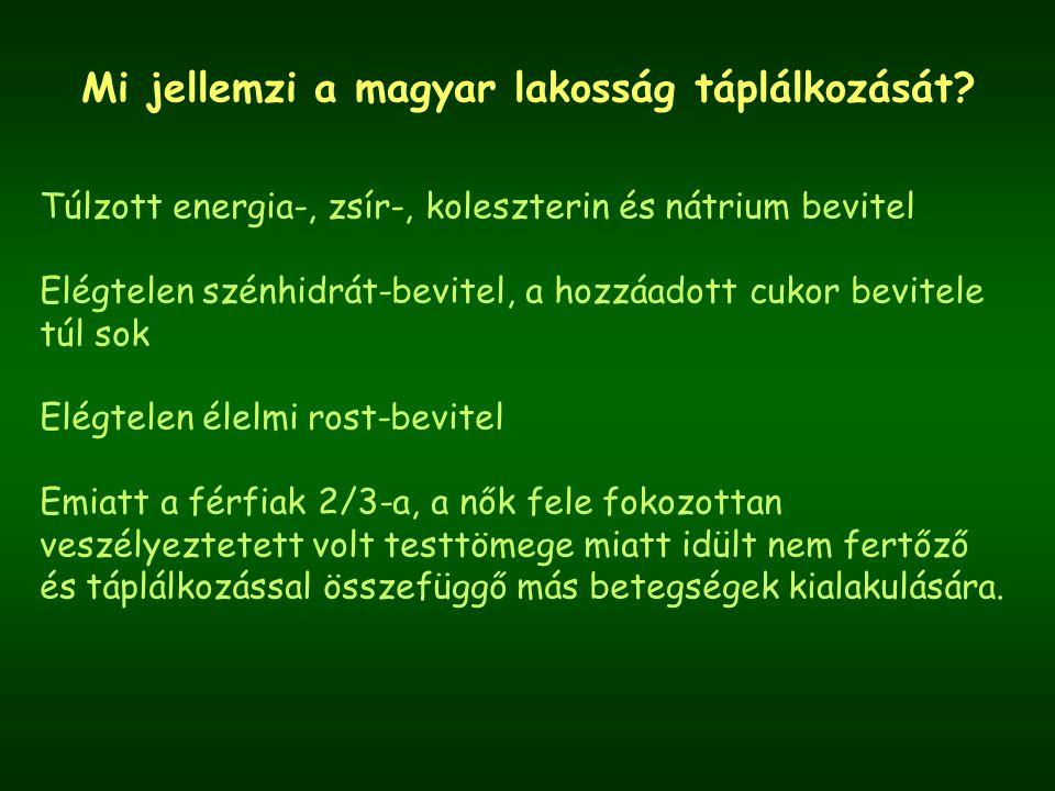 Mi jellemzi a magyar lakosság táplálkozását