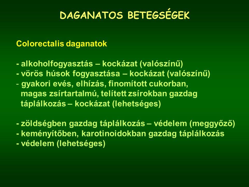 DAGANATOS BETEGSÉGEK Colorectalis daganatok