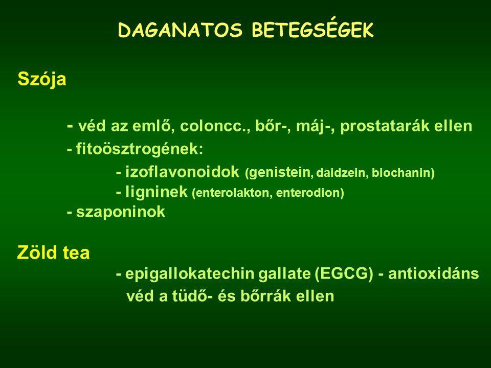 - véd az emlő, coloncc., bőr-, máj-, prostatarák ellen