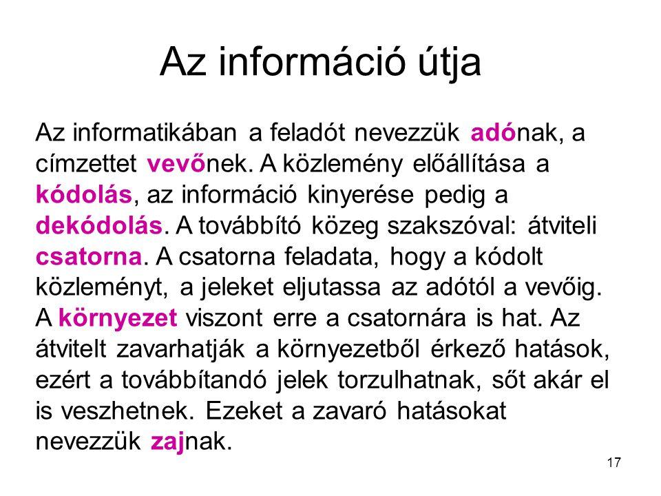 Az információ útja