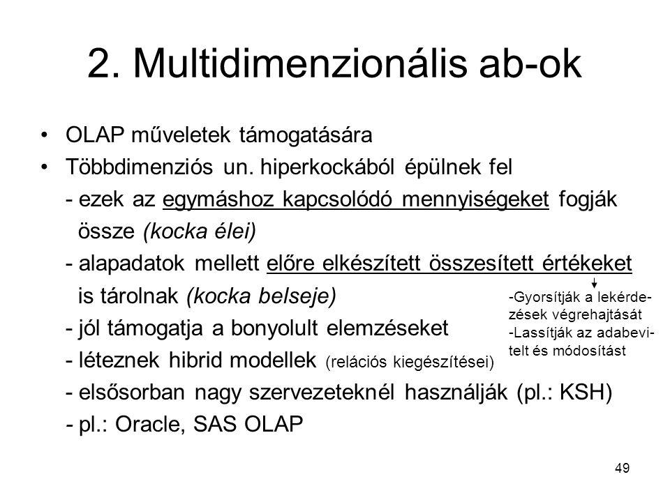 2. Multidimenzionális ab-ok