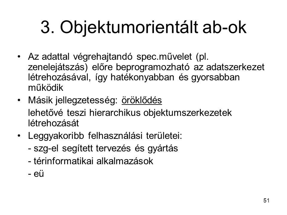 3. Objektumorientált ab-ok