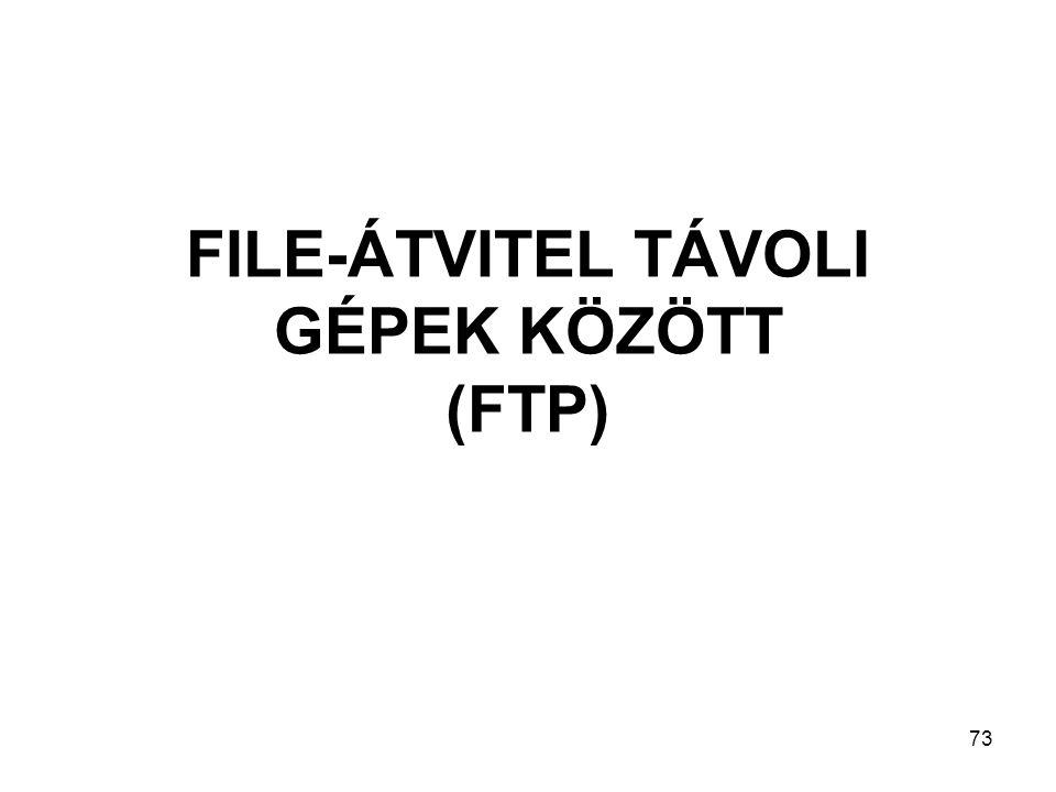 FILE-ÁTVITEL TÁVOLI GÉPEK KÖZÖTT (FTP)