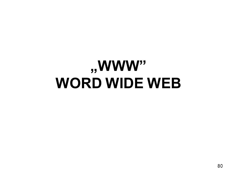 """WWW WORD WIDE WEB"