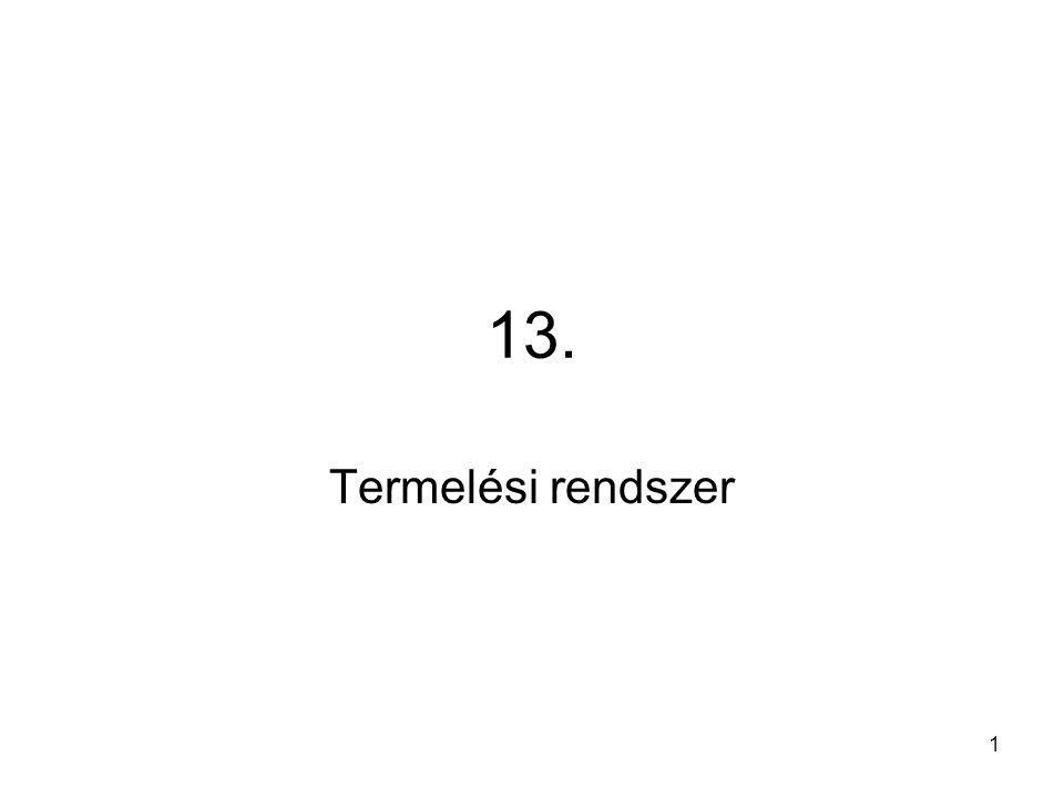 13. Termelési rendszer