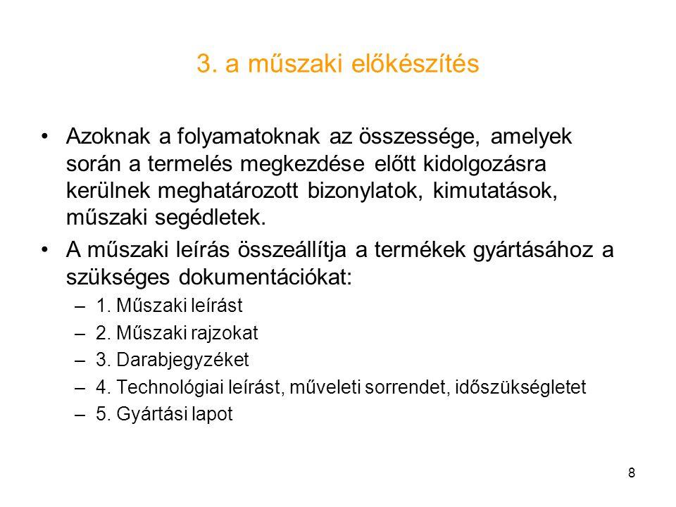 3. a műszaki előkészítés
