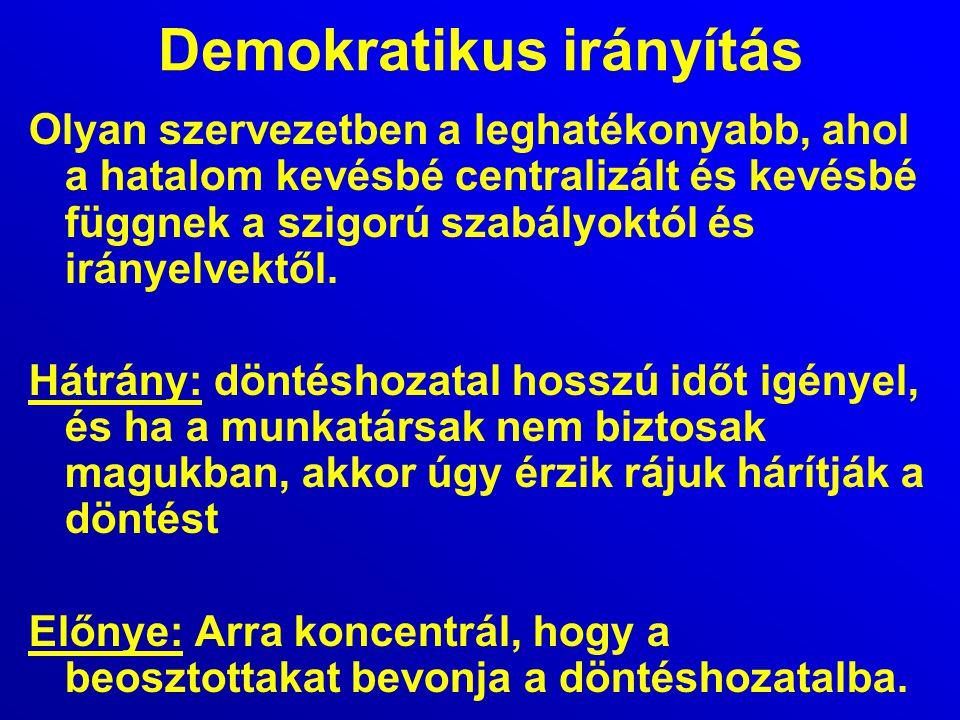 Demokratikus irányítás